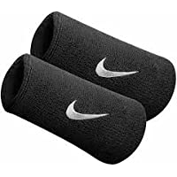 Nike SWOOSH DOUBLE-WIDE WRISTBANDS schwarz - MISC