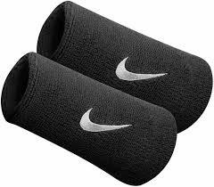 Muñequeras doble ancho Nike logo, color
