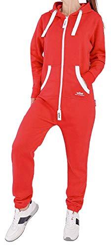 89E5 Finchgirl Damen Jumpsuit Jogging Anzug Trainingsanzug Overall Rot XS - Roter Overall