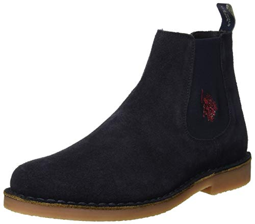 U.S. Polo Assn. FAUST6, Sneaker a Collo Alto Uomo, Blu (Dark Blue Dk Bl), 43 EU
