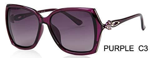 LKVNHP Fox Aussehen Design Schmetterling Kunststoff Sonnenbrille Frauen polarisierte Retro uv400 Mode FahrenBrillen Mujer gläser wpgj181 lila c3
