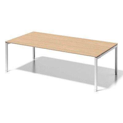 Bisley Cito Chefarbeitsplatz/Konferenztisch, 650-850 mm Höheneinstellbares U H 19 x B 2400 x T 1200 mm, Dekor Ahorn, Gestell Verkehrsweiß, Metall,...