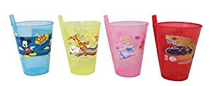 BigMart The All-in-One , Cartoon Printed Plastic Sippers with Straw, Best Gifts-Children Food Toy (Sipper Pack of 4)