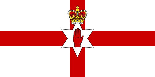 magFlags Flagge: Large Northern Ireland   Northern Ireland from 1953 with Edwardian Crown Since Coronation of Queen Elizabeth II   ??? ??????? ????????   Querformat Fahne   1.35m²   80x160cm & Queen Elizabeth 1953