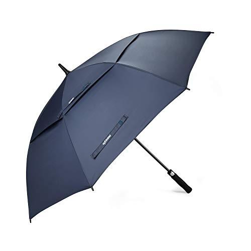BATURU Golf-Regenschirm, groß, Winddicht, doppeltes Baldachin, automatisches Öffnen, blau -