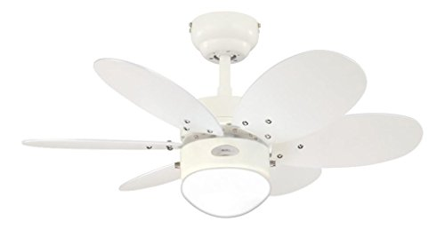 315MFKwULDL - Westinghouse Ceiling Fans 78673 Turbo II One-Light 76 cm Six-Blade Indoor Ceiling Fan, White Finish with Opal Frosted…