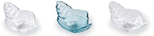 Mud Pie 4855073 Conch Glas-Set für Dipbecher, Einheitsgröße, Blau, 3 Stück Mud Pie Dessert
