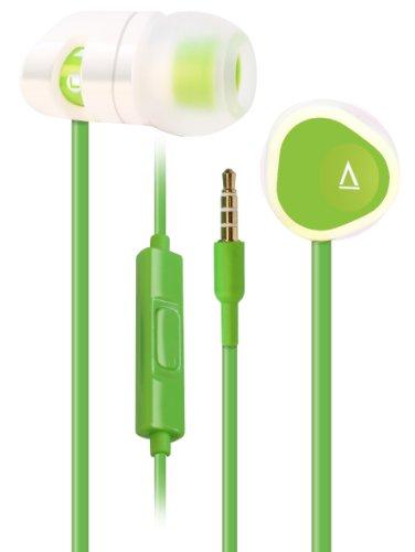 Creative MA200 Headset (kabelgebunden, Android-Steuerungsfunktionen für Anrufe und Musikwiedergabe) für Android-, iOS- und andere Smartphones weiß/grün Creative Labs Stereo-headset