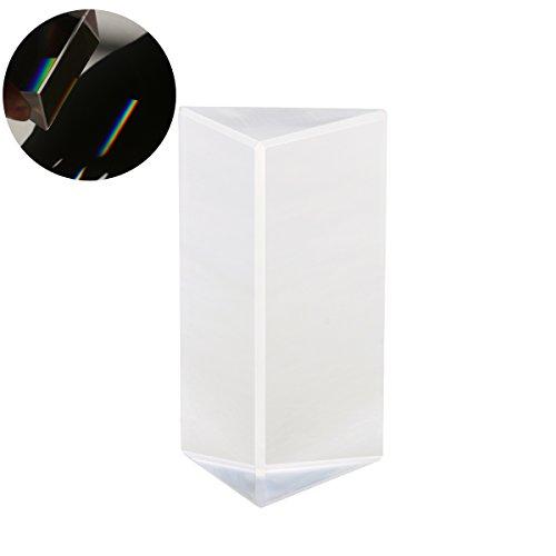UEETEK 2 Stücke Kristall optischen Glas dreieckigen Prisma für Unterricht in Physik Lichtspektrum(5*3*3CM) von UEETEK