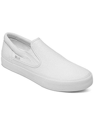 Dc Trase Slip-On T M Shoe Bkw, Mocassini da Uomo Bianco - bianco/bianco