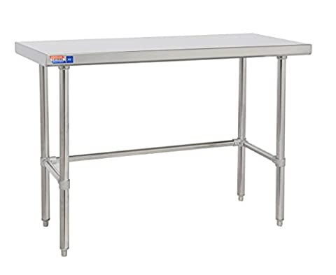Clear under stainless steel table 600mm flat top no upstands.