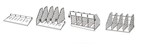 DFHHG® Suministros de oficina 381 * 217 * 212mm Archivos de escritorio Rack Rack Rack Book Stand Student durable ( Color : #1 )