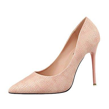 Moda Donna Sandali Sexy donna tacchi tacchi estate pu Casual Stiletto Heel altri nero / rosa / rosso / bianco / grigio chiaro / Mandorla Altri Pink