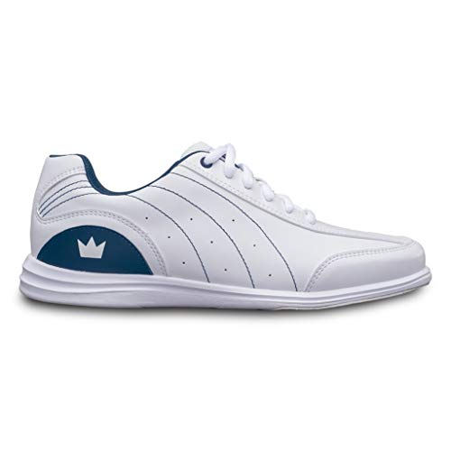 Brunswick Bowling Products Ladies Mystic Bowling Shoes- Widewhite/Navy 7 1/2 D US, White/Navy, 7.5