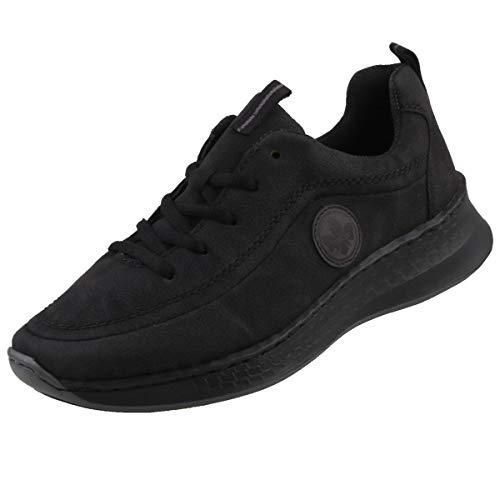 Rieker Damen N5604-00 Sneaker, Schwarz/Fumo 00, 40 EU