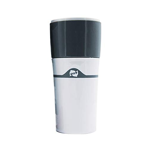 xMxDESiZ Tragbare French Press Drip Kaffeemaschine Reise Outdoor Moka Pot Becher für K Cup Grau weiß