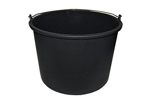 Baueimer DEWEPRO® - Mörteleimer - Putzeimer - extra stabil mit Henkel und Skalierung - 20l, 20 Liter
