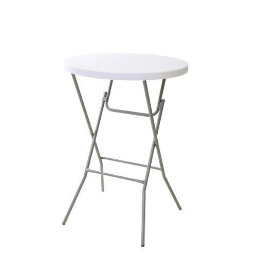 greemotion Stehtisch in Grau, wetterfester Partytisch für Drinnen und Draußen, Klapptisch leicht...