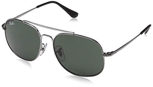 RAYBAN JUNIOR Unisex-Kinder Sonnenbrille General Junior, Gunmetal/DarkGreen, 50