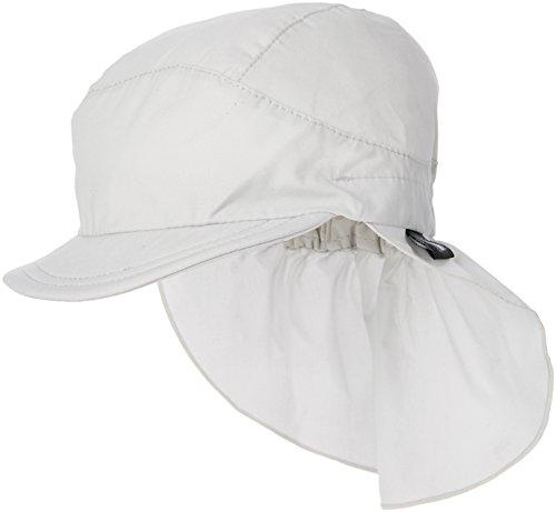 Sterntaler Unisex Schirmmütze mit Nackenschutz, Alter: 12-18 Monate, Größe: 49, Weiß