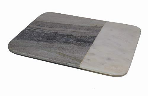 hashcart grau Marmor Schneidebrett, Chopper, rechteckig Schneidebrett | für Brot, Obst, Gemüse Fleisch und Käse Serviertablett Standard multi
