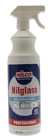 Nilco H3 Nilglass Glass and Mirror Cleaner with Spray Nozzle, 1L