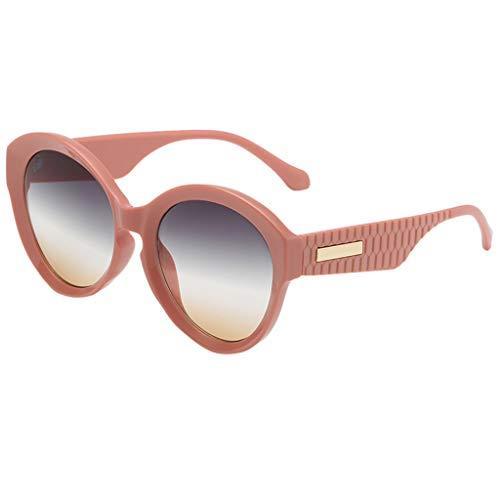 fazry Damen Herren Mode Persönlichkeit Unregelmäßige Form Sonnenbrille Vintage Punk Style Brille(E)