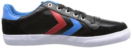Hummel Hummel Stadil Low, Sneakers Basses mixte adulte Noir - Schwarz (BLACK/BLUE/RED/GUM 2640)
