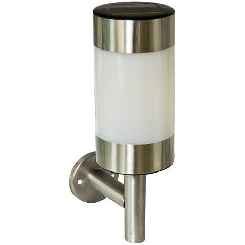 SODIAL (R) 2 X, in acciaio INOX, montaggio a parete, a Led, per esterni, lanterna (Esterno Montaggio A Parete Lanterna)