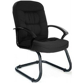 Cadiz Fabric Visitor Office Chair - Black
