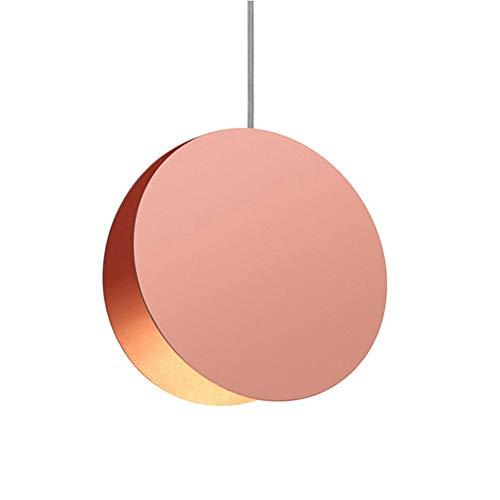 Runde Farbe Kronleuchter Macaron kreative Pentant Lampe für Stehtisch Wohnzimmer Tisch Hängelampe @ Large_Pink