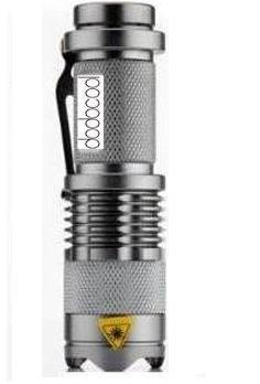 DODOCOOL 7W 300LM Mini CREE LED Taschenlampe Einstellbarer-Fokus Zoom-Licht-Lampe Silber von DODOCOOL bei Lampenhans.de