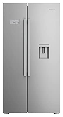 Beko ASD241X Free-Standing 554-litre A+ stainless Steel Vertical Door (side-by-side) Refrigerator - (French doors, LED, Glass)