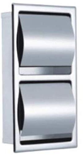 JKGNKE Toilettenpapierhalter Wandmontage, Edelstahl Wandmontage Toilettenpapierhalter mit doppeltem Volumen Verdeckter Rollenhalter Papierhandtuchhalter