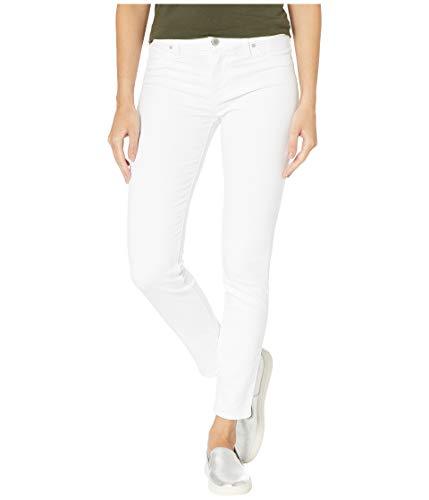 HUDSON Women's Nico Mid-Rise Skinny Five-Pocket Jeans in White (Weiße Hudson Skinny)