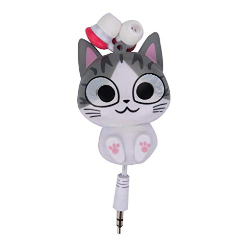 Jinzuke 3,5 mm Kabel Retractable In-Ear Headset-Cartoon-Entwurf Telefon-Musik-In-Ohr Kopfhörer Earbuds 3.5 Mm Retractable Headset