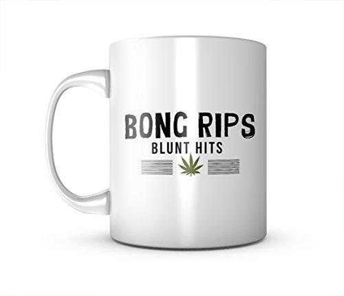 Bong Rips Blunt Hits Komisch Weed Keramik Tasse Kaffee Tee Becher Mug (Becher Weed Bong)