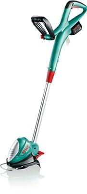 Bosch ART 23 LI Akku-Rasentrimmer + 23 Kunststoffmesser + Pflanzenschutzbügel + Akku und Ladegerät (14,4 V, 23 cm Ø, 2,3 kg)