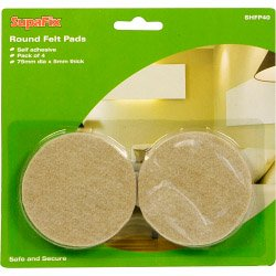 SupaFix Lot de 4 Patins en feutre 75 mm (533930)