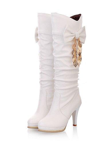 ShangYi Mode Frauen Schuhe Damenschuhe Heels / Mode Schuhe / Stiefel bekämpfen Outdoor / Büro & Karriere / CasualStiletto &999 Weiß