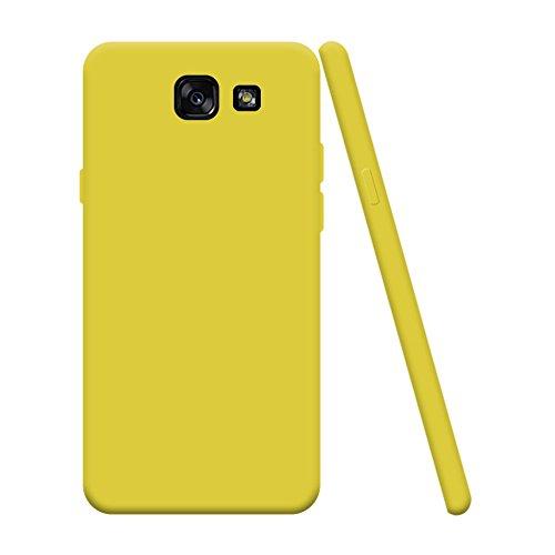 Samsung Galaxy A5 2017 SM-A520F, Handyhülle Bumper Back Case Cover Silikon Case Candy Farben Hülle Ultradünnen Flexibel Weich Schutzhülle Kratzfeste Stoßfeste Tasche - Gelb ()