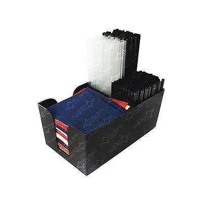 Radioactivebarman- porta cannucce e tovaglioli da banco nero.-attrezzature barman