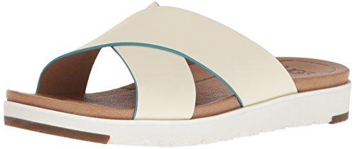 UGG Australia Kari Leder Pantolette Sandale white 1015822 Größe 37 - Einlegesohlen Frauen Uggs