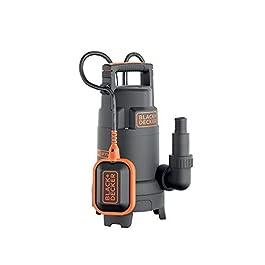 Black+Decker BXUP750PTE Pompa Immersione per Acque Chiare e Scure, Portata max. 13.000 l/h, Prevalenza max. 8 m, 750 W
