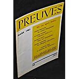 Preuves. n°145. Mars 1963