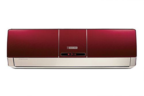 Blue Star BI-5HW12ZCRX  Split AC (1 Ton, 5  Star Rating, Wine Red, Aluminum)