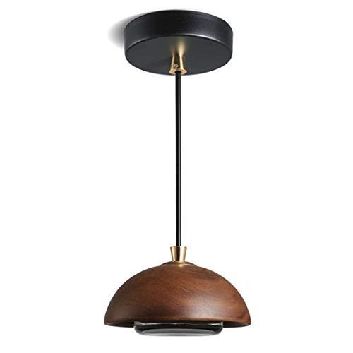 Zceillamp Warm Wood LED Hängende Lampen Chandelier European Pendant Lights Glass Shade-Cafe Bar Loft Bedroom Dining Room Lighting Decoration Lampe -