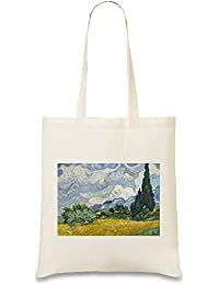 3ac4a131f22 Weizenfeld mit Zypressen Van Gogh Painting - Wheat field With Cypresses Van  Gogh Painting Custom Printed Tote…