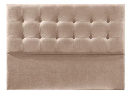 Cabecero de Cama tapizado en Tela Nido. Altura 120cm. Color Beige. para Cama de 150 (Medidas 160x120x8) Pro Elite.