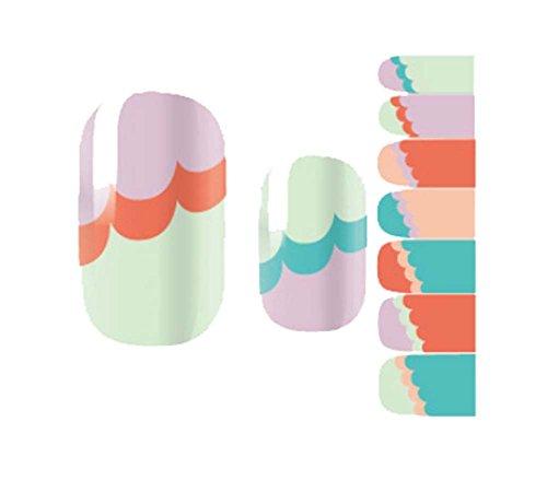 créatif mode vert ongles autocollants décoration des ongles, Couleur